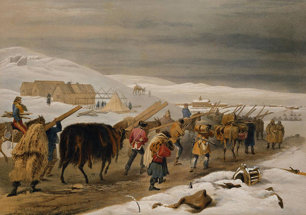 Condition Wall Art - Drawing - Huts And Warm Clothing For The Army by William 'Crimea' Simpson