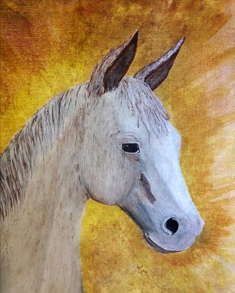 Painting - Hux Little Squeak by Judy Hall-Folde