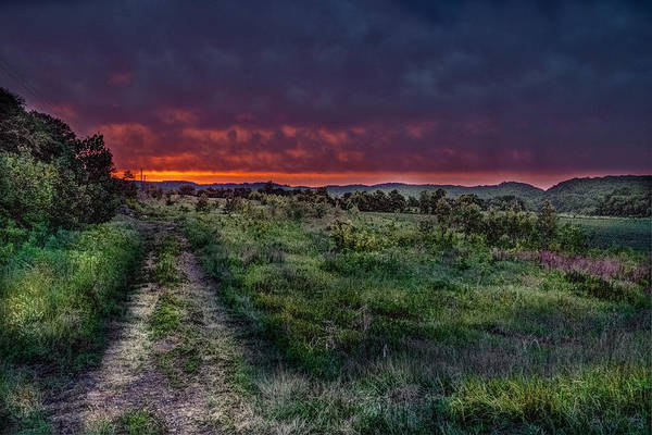 Merge Digital Art - Hwy W Sunset by William Fields