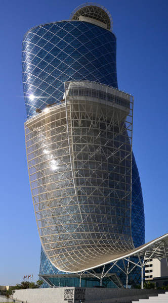 Photograph - Hyatt Capital Gate  by Dragan Kudjerski