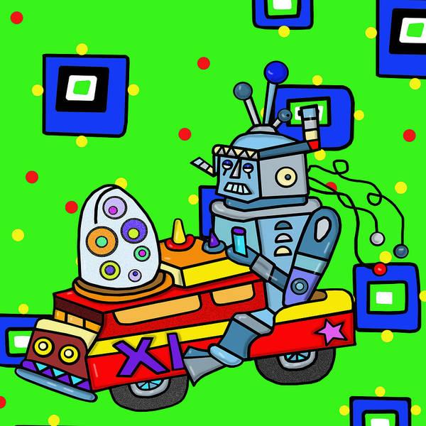 Wall Art - Digital Art - Hybrid Robot Car by Lynnda Rakos