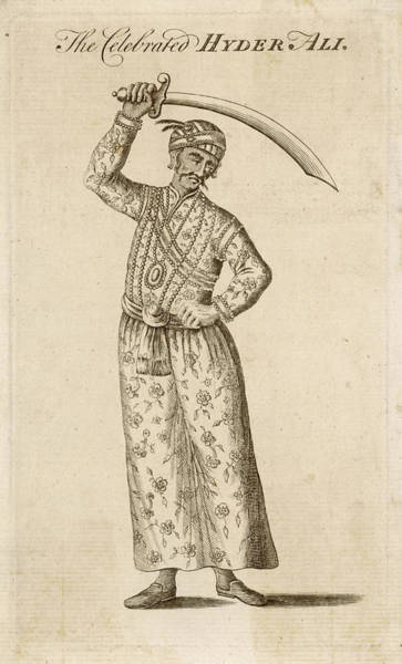 Wall Art - Drawing - Hyder Ali  Indian Ruler And Soldier by Mary Evans Picture Library