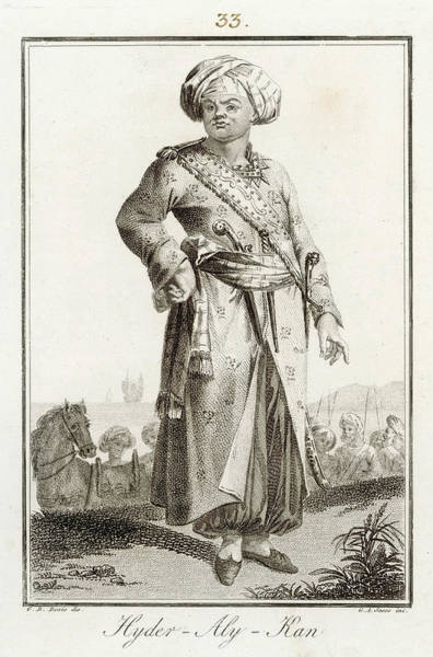 Wall Art - Drawing - Hyder Ali  Sultan Of Mysore C by Mary Evans Picture Library