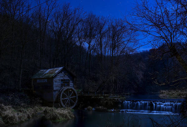 Wall Art - Photograph - Hydes Mill At Midnight by Anna-Lee Cappaert