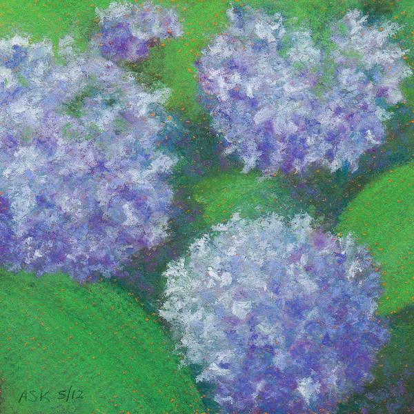 Pastel - Hydrangea by Anne Katzeff