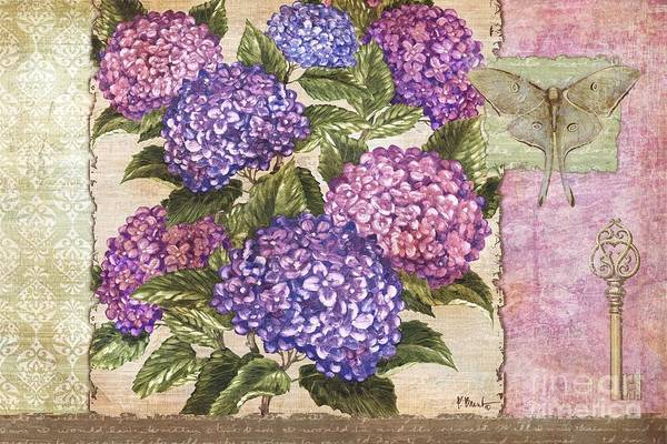 Wall Art - Painting - Hydrangea Collage by Paul Brent