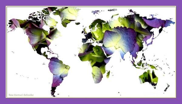 Photograph - Hydrangea World Map by Rose Santuci-Sofranko