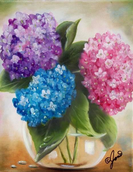 Painting - Hydrangeas by Joni McPherson