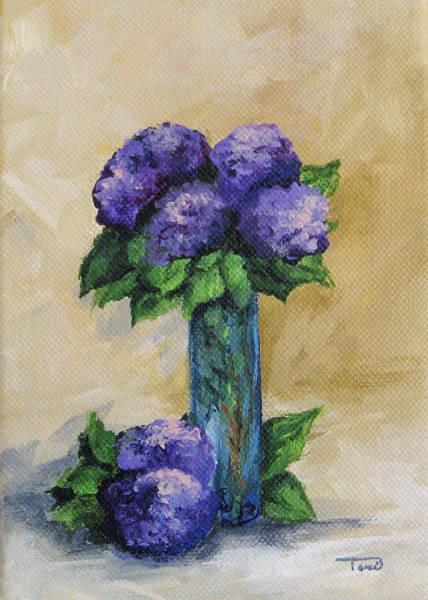 Painting - Hydrangeas by Torrie Smiley