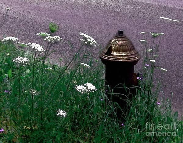 Digital Art - Hydrant De Fleur by Dale   Ford