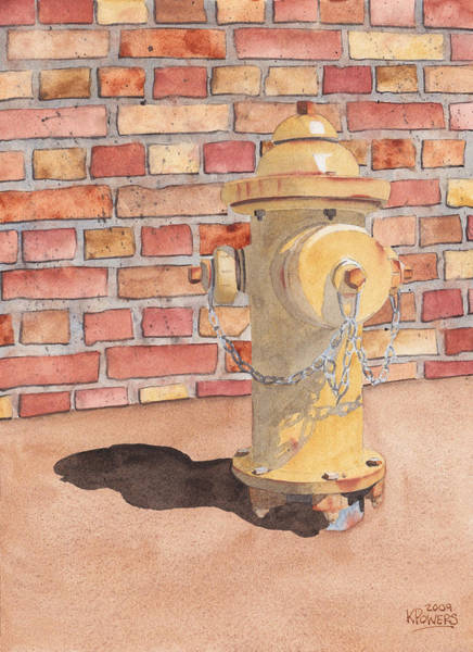 Painting - Hydrant by Ken Powers