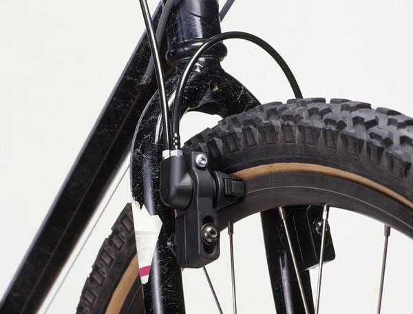 Brake Wall Art - Photograph - Hydraulic Brake On Front Wheel by Dorling Kindersley/uig