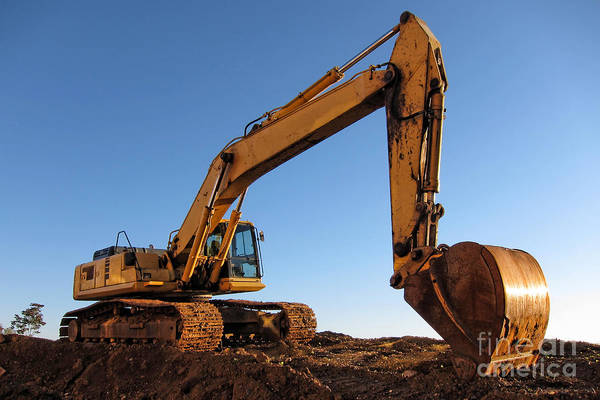 Photograph - Hydraulic Excavator by Olivier Le Queinec