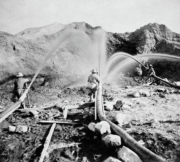 Wall Art - Photograph - Hydraulic Mining by Library Of Congress/science Photo Library