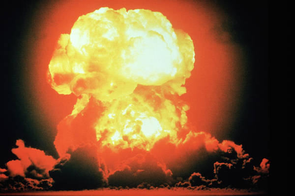 Nuclear Bomb Wall Art - Photograph - Hydrogen Bomb Explosion by U.s. Navy/science Photo Library.