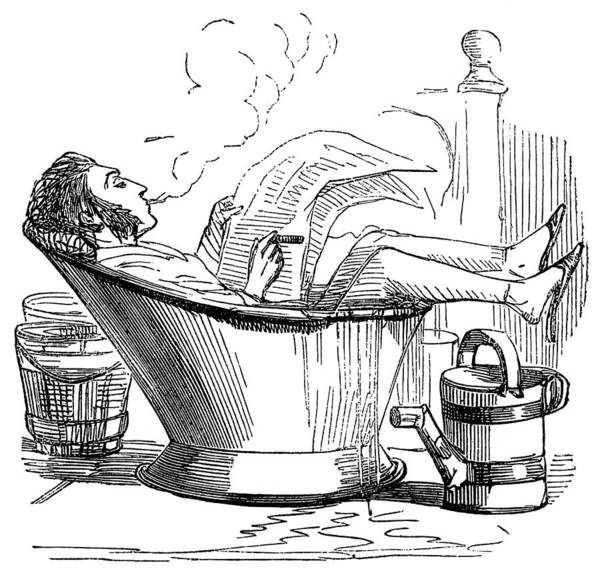 Photograph - Hydrotherapy, Hot Weather Self-cure by Wellcome Images
