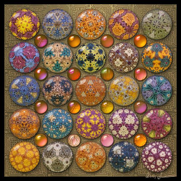 Hyperbolicrochet Kaleidoscope Quilt Art Print