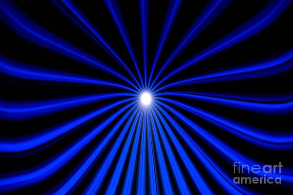 Painting - Hyperspace Blue Landscape by Pet Serrano