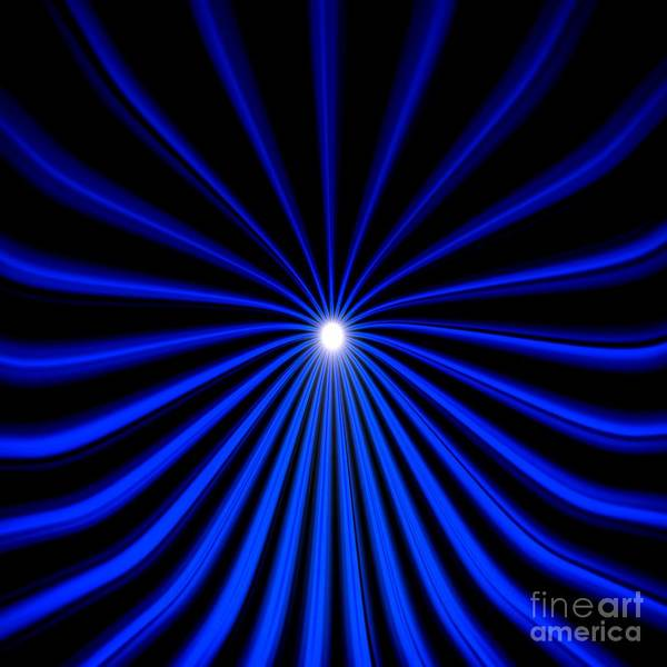 Painting - Hyperspace Blue Square by Pet Serrano