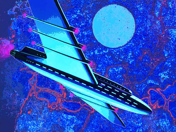 Space Ship Mixed Media - Hyperspace by Dominic Piperata