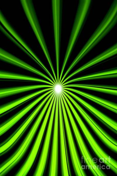 Painting - Hyperspace Electric Green Portrait by Pet Serrano