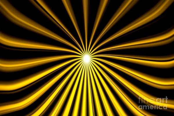 Painting - Hyperspace Gold Landscape by Pet Serrano