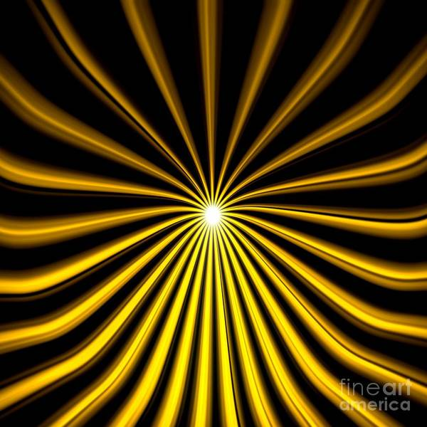 Painting - Hyperspace Gold Square by Pet Serrano