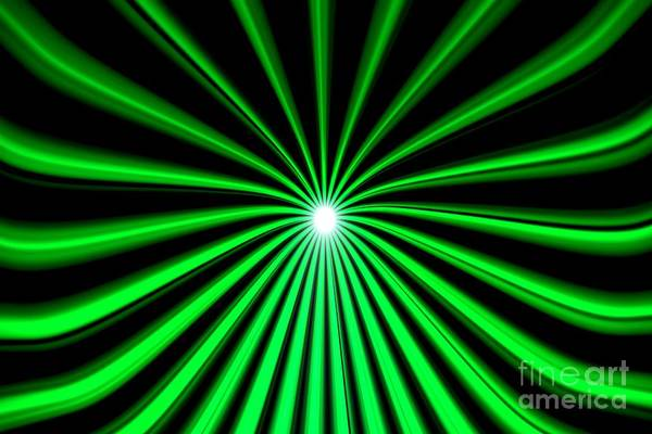 Painting - Hyperspace Green Landscape by Pet Serrano