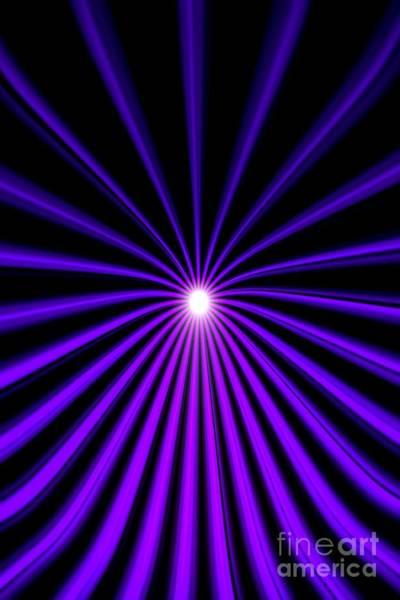 Painting - Hyperspace Violet Portrait by Pet Serrano
