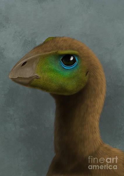 Eyeball Digital Art - Hypsilophodon Dinosaur Portrait by Alvaro Rozalen