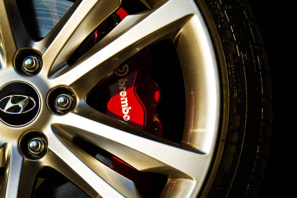 Brembo Photograph - Hyundai Brembo by Rick McKee