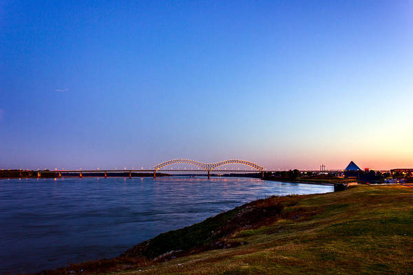 Photograph - I-40 Bridge Across The Mighty Mississippi - Memphis - Tn by Barry Jones