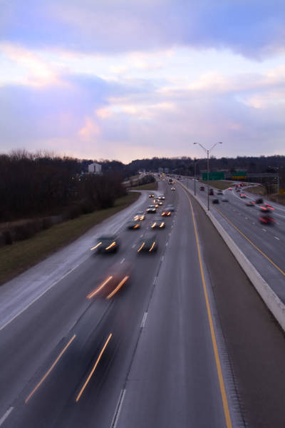 I-75 Photograph - I-75 Knoxville At Dusk by Melinda Fawver
