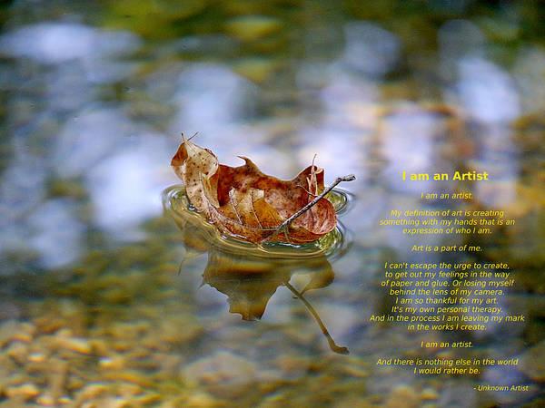 Photograph - I Am An Artist by Richard Reeve