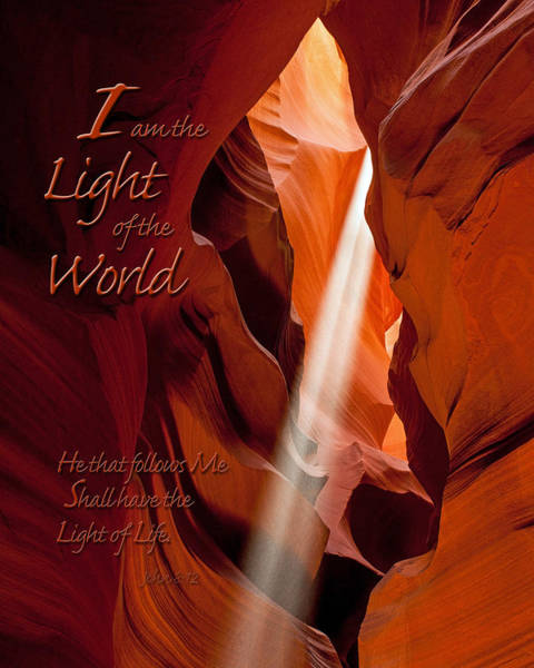 Photograph - I Am The Light Of The World by James Capo
