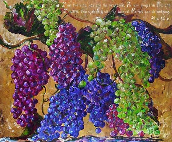 Scriptural Painting - I Am The Vine by Eloise Schneider Mote