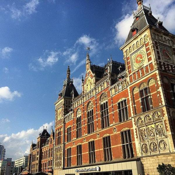 Japan Photograph - I Arrived In #amsterdam #station From by Ryoji Japan