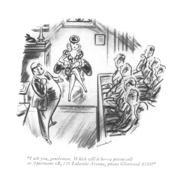 Dove Drawing - I Ask You, Gentlemen. Which Will It Be - A Prison by Leonard Dove