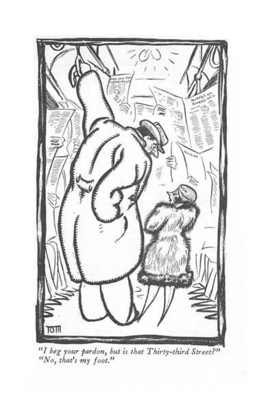 Commuter Rail Wall Art - Drawing - I Beg Your Pardon by  Van Ass