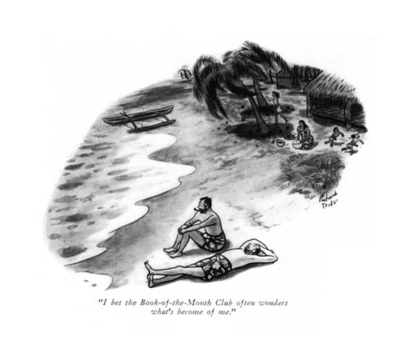 Shipwreck Drawing - I Bet The Book-of-the-month Club Often Wonders by Richard Decker