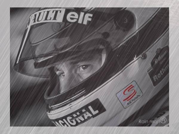 Ayrton Senna Wall Art - Digital Art - I Cannot Quit I Have To Go On by Stephane Trahan