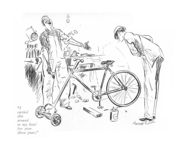 Bike Drawing - I Carried This Around In My Head For Over Three by Garrett Price