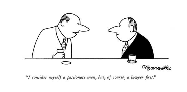 Ego Drawing - I Consider Myself A Passionate Man by Charles Barsotti