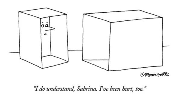 empty box drawing - i do understand by charles barsotti