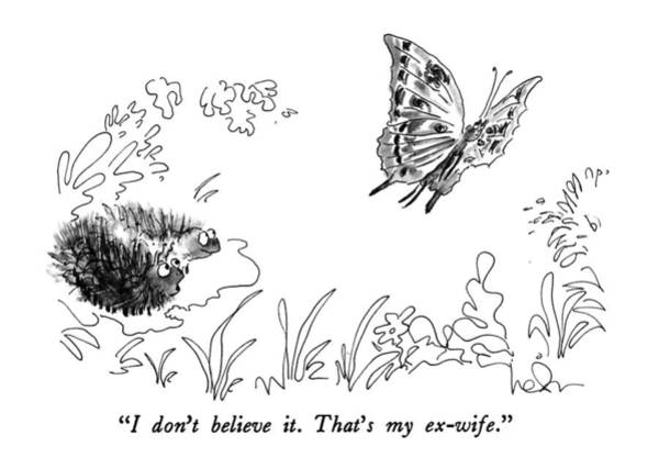 July 2nd Drawing - I Don't Believe It.  That's My Ex-wife by Arnie Levin