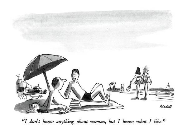July 13th Drawing - I Don't Know Anything About Women by Frank Modell