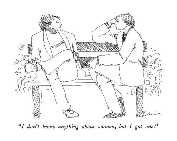 April 2nd Drawing - I Don't Know Anything About Women by Richard Cline