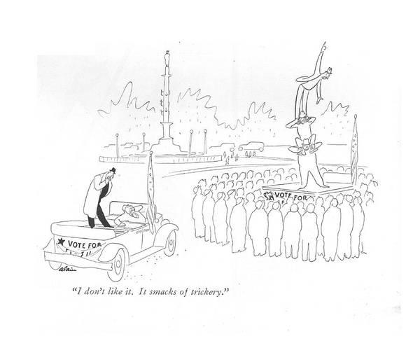 Speaker Drawing - I Don't Like It. It Smacks Of Trickery by  Alain