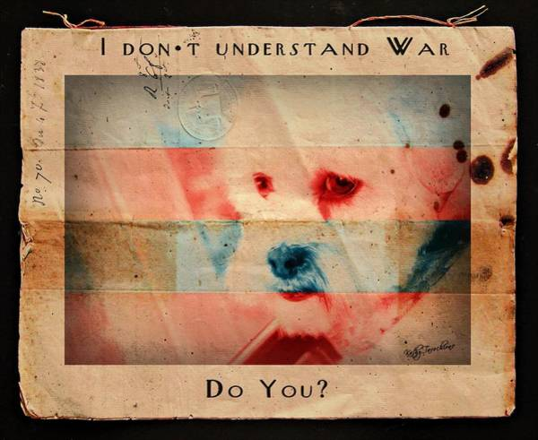 Digital Art - I Don't Understand War by Kathy Tarochione