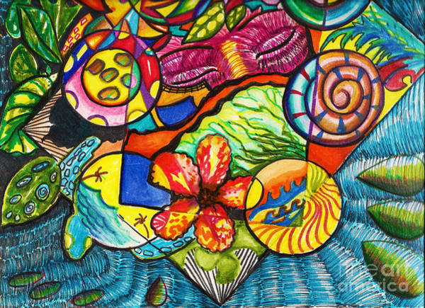Painting - I Dream Of An Island by Donna Chaasadah